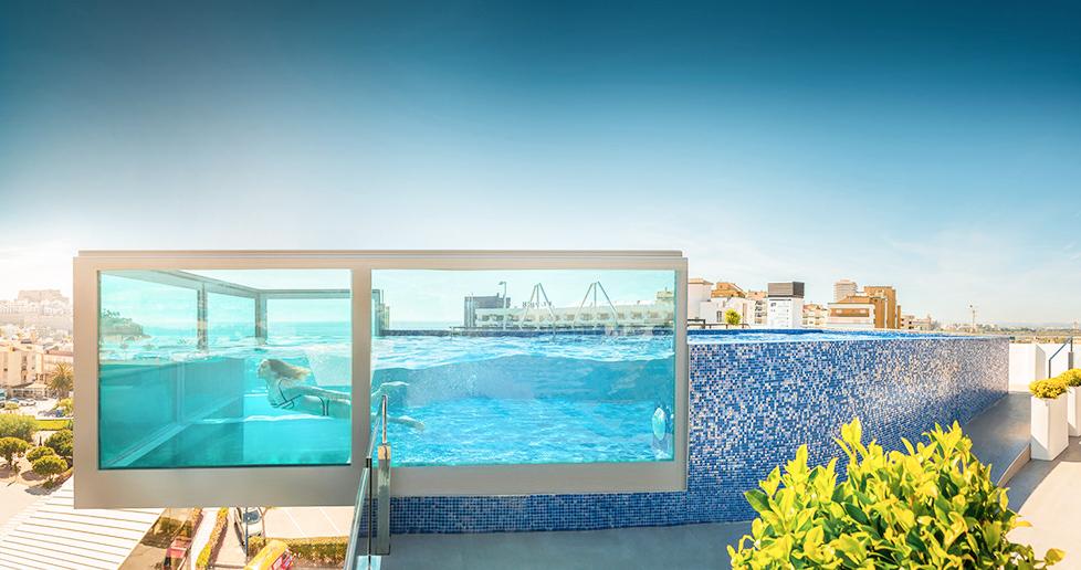 hotel piscina colgante peniscola Hotel RH Don Carlos