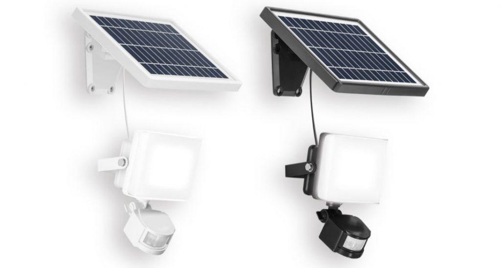 Lámpara y Foco Solar Led exterior con sensor de movimiento de Lidl